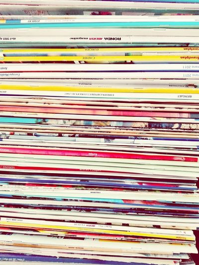 Papers magazines Backgrounds Full Frame Pattern No People Multi Colored Day