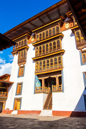 ASIA Architecture Punakha Punakha Dzong Architecture Belief Bhutan Building Building Exterior Built Structure City Culture Day History Low Angle View Nature No People Outdoors Place Of Worship Religion Sky Spirituality Sunlight The Past Travel Destinations Window