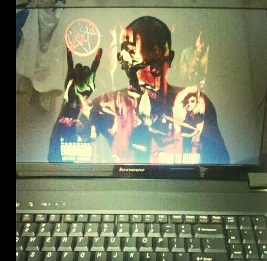 enter to the realm of satan \m/ lol... Slayer Metal Reigninblood Trashmetal