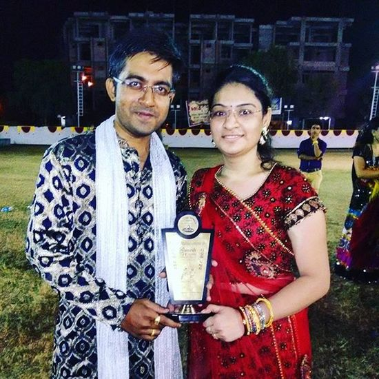 Bestcouple Winner AWARD 2015  Day8 Dandiya Dhamal Garba Night With Fiance @poonam2910 Sisters @milonipanchal and brothers @parthpanchal405