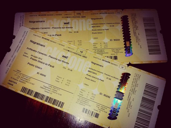 Tickets Happy Concert Negramaro