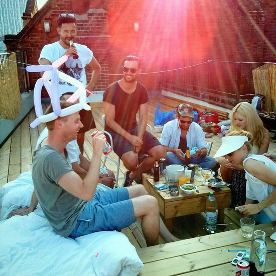 Summer in London includes balloon animals and drinks on rooftops. Balloon Animals  Summer Vibes BBQ Saturdays