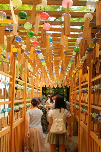Women Enjoyment People Vacations Travel Destinations Young Women Day Japan Japan Photography Shrine Shrine Of Japan Japan Culture Japan Style Windchime Windchimes Wind Chime Wind Chimes Hanging Reflection Beauty Nature Outdoors Scenics