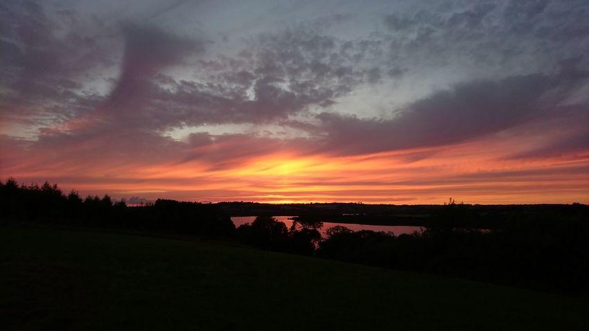 Enjoying The Sun Sunset Relaxing Orange Sky Roadfordlake BBQ Lake