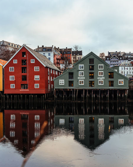 Norway Architecture Built Structure Water Building Exterior Building Sky Residential District Waterfront Cloud - Sky House City No People Day River Nature Outdoors Reflection Transportation Row House