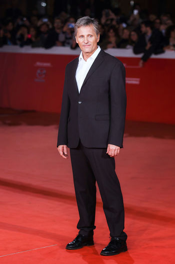 Rome, Italy - October 17, 2016: Viggo Mortensen walks a red carpet for 'Captain Fantastic' During The 11th Rome Film Festival. Actor Celebrity Cinema Famous People Only Men Red Carpet Rome Film Festival Viggo Mortnsen
