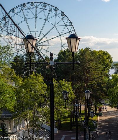 Khabarovsk DV City Sky Tree No People Outdoors Ferris Wheel Day Built Structure Clear Sky Amusement Park Ride Architecture Nature City Clock @phot_a_v Nature Россия Russia Your Ticket To Europe