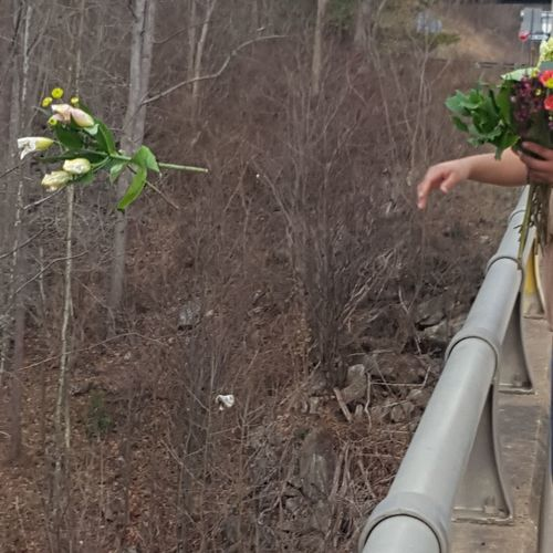 Flowers for Mami One Person Human Hand Real People Leisure Activity Human Body Part Adults Only Lifestyles Growth Day Men Outdoors Low Section Adult People Human Leg Tree One Man Only Nature Flowers For Mami Day Tripping Memorial