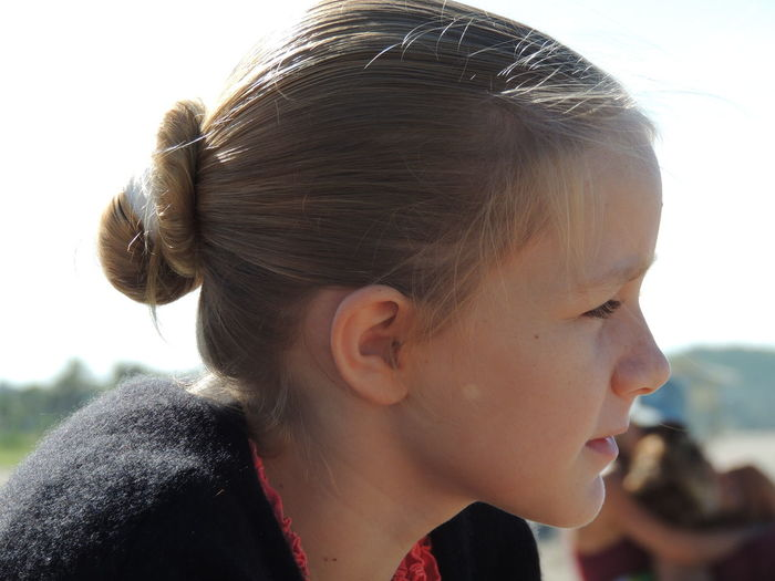 Close-up portrait of a girl