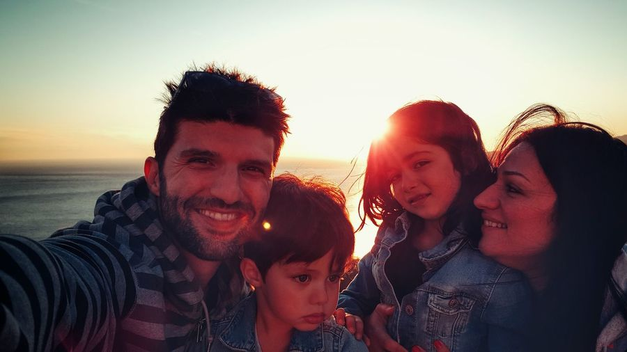 Happy Family In Vacations