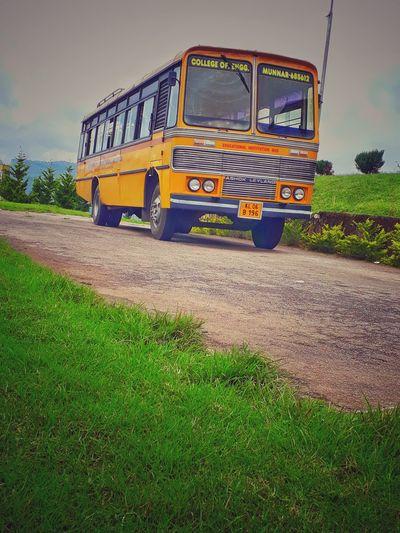 Nature Historical Bus College Bus Vintage Sky Grass Vehicle Parking Land Vehicle Bus Road