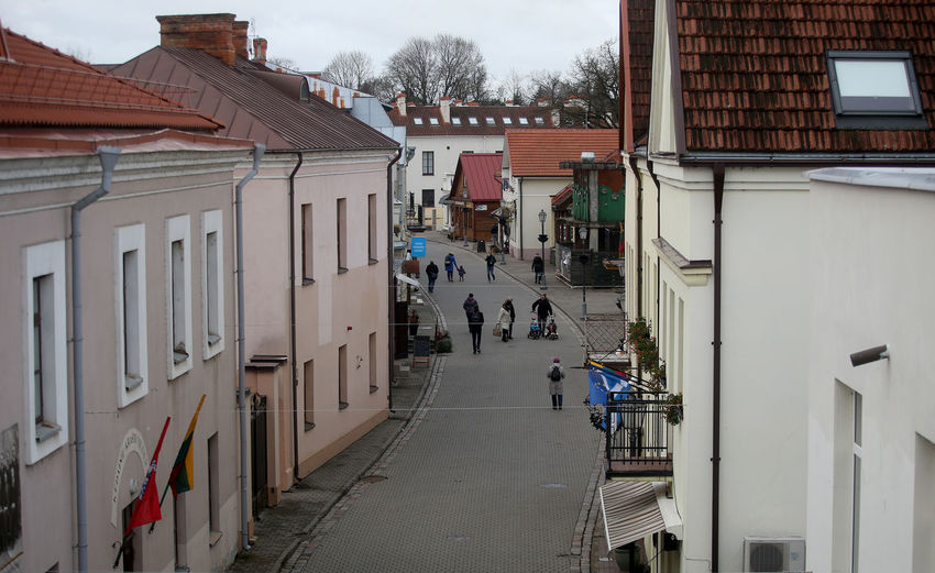 Building Exterior Architecture Built Structure City Street Building Group Of People Day Lifestyles Residential District Direction Outdoors Walking The Way Forward Kedainiai Old Town Kėdainiai Lithuania Lithuania Travel