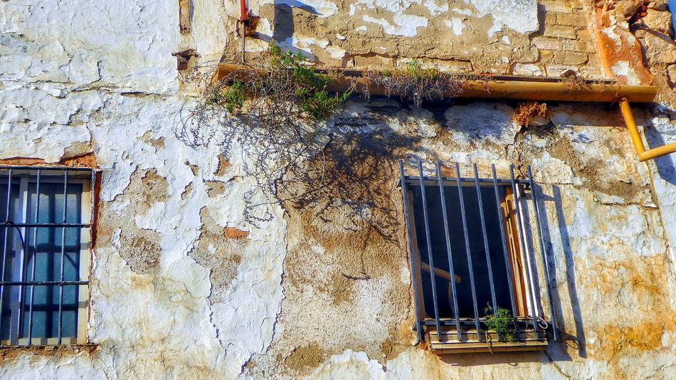 abandoned building Olvera Spain Ruins Pueblos Blancos Window Box Deterioration Run-down Abandoned Obsolete