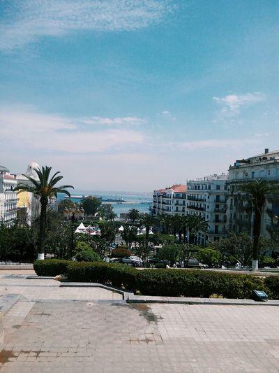 Jardin de l'horloge. Algeria Alger Cityscape Travel