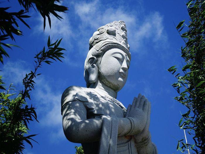 Blue Sky Buddha Buddha Garden Buddhism Peaceful Praying Religion Religious Architecture Sculpture Statue
