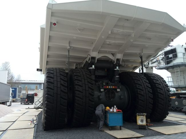 One Person Outdoors Working People Business Finance And Industry Industry Only Men One Man Only Semi-truck Adults Only Day Occupation Tire Sky Adult Munich München Munich, Germany München,Germany Bauma Messe München