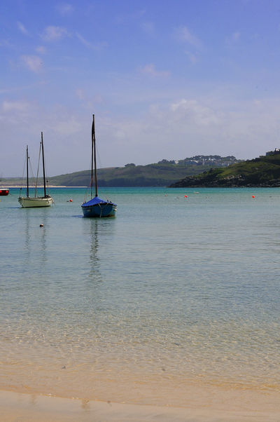 St. Ives Cornwall Bay Beach Beauty In Nature Cloud - Sky Day Land Luxury Mode Of Transportation Nature Nautical Vessel No People Outdoors Sailboat Sailing Scenics - Nature Sea Sky Tranquil Scene Tranquility Transportation Turquoise Colored Water Waterfront Yacht