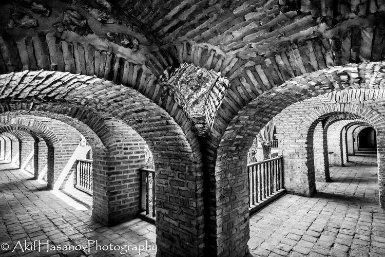 Caravanserai Sheki Ancient Arch Architecture Built Structure History No People Historical Building