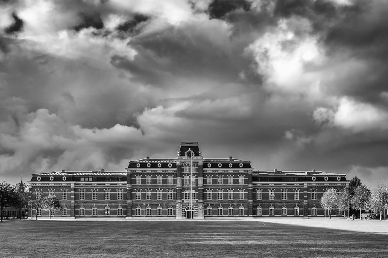 View of historical building against cloudy sky