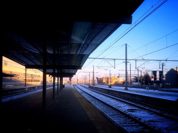 It's Cold Outside First Eyeem Photo Snow Train Station IPhone 5S