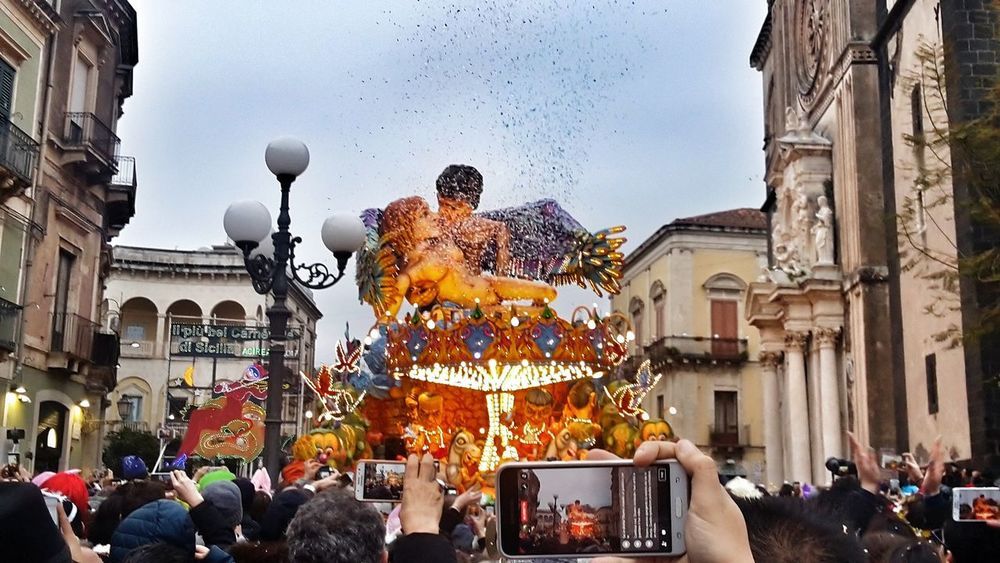 Travel Destinations Carri Allegorici Sicily, Italy Carnival Carnival Crowds And Details