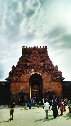 Architecture Travel Destinations Tourist Built Structure Religion Tourism Ancient Civilization Building Exterior Place Of Worship Outdoors Sky Travel Entrance Old Ruin Tanjore Big Temple India Tamilnadu