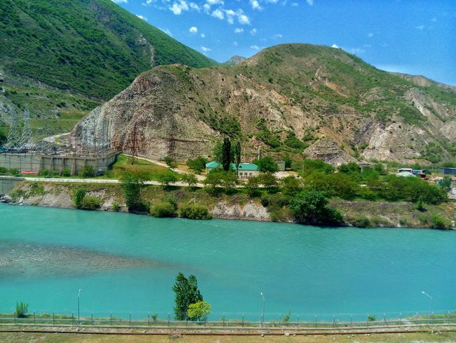 Сулакский каньон, Дагестан. Canyon Water Mountain Beauty In Nature Nature Outdoors Day Tranquility Scenics Nature Green Color Sky Travel Destinations Dagestan Tranquility River LeEco LeTv X600 Blue Color Green Color Landscape
