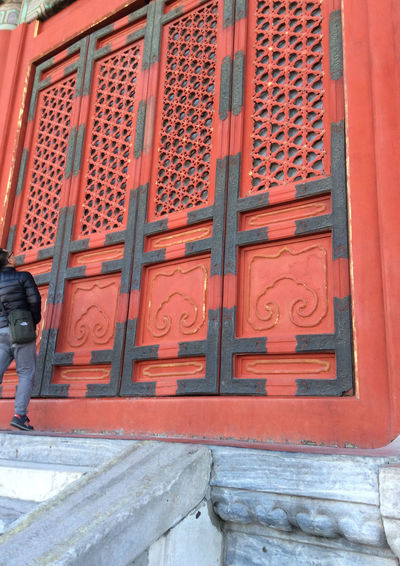 Antique Doors OOR Architecture Building Exterior Built Structure Close-up Communication Day Design Door Huge Low Angle View No People Outdoors Pattern Red Color