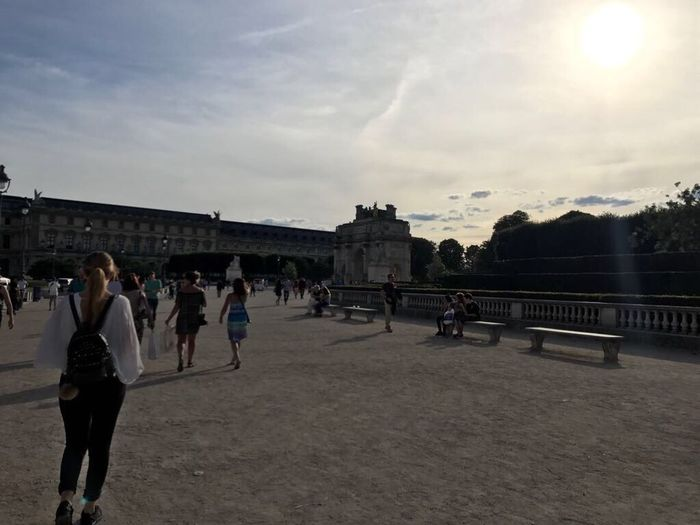 Mon chéri 🎈paris is so beautiful, love it! Architecture Built Structure Sky Paris France 🇫🇷 Louvre Tour Eiffel My Boyfriend ❤ Holiday Merci Moritz Large Group Of People Outdoors Real People Men Day City People Adult