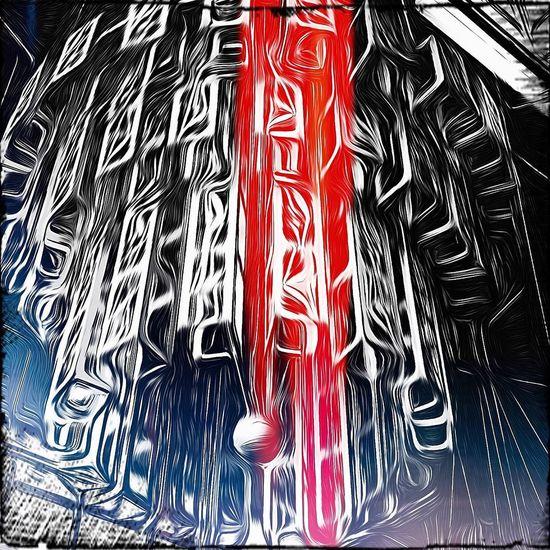 Metal. Chandelier TangledFX Pixlromatic Restaurant