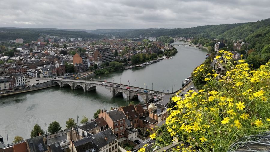 Cloud - Sky High Angle View Cityscape River Travel Destinations Day Landscape Nature Outdoors Taking Photos ❤ Namur Belgium Wild Flowers Bridges Eyemphotography