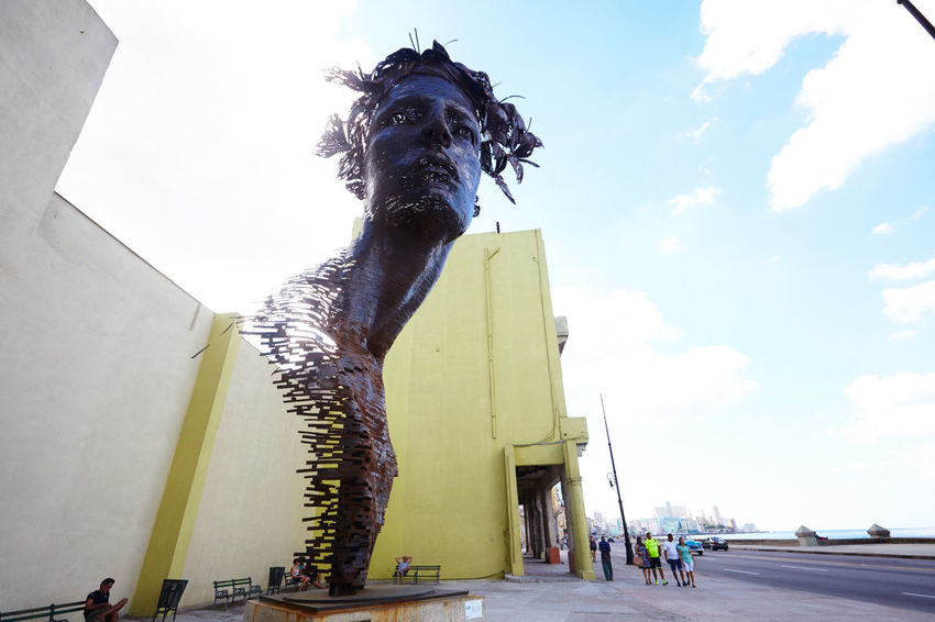 Architecture Art And Craft Building Exterior Built Structure City Creativity Cuba Collection Day Havana Human Representation Low Angle View No People Outdoors Primavera Rafael San Juan Sculpture Sky Statue