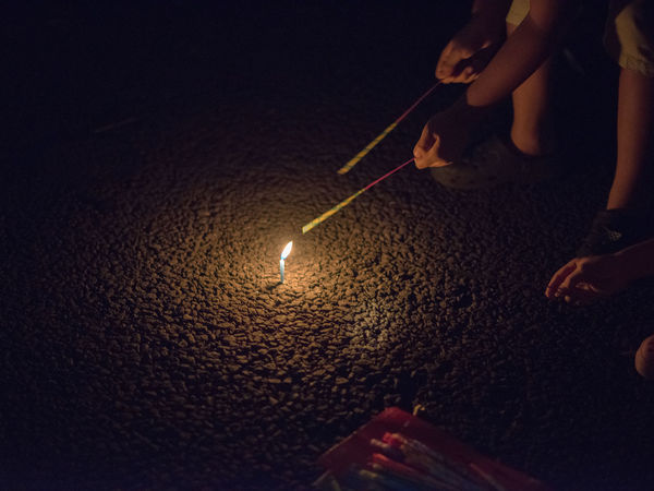 In summer Japanese kids plays with fireworks outside. Candle Fireworks Japan Japanese  Japanese Culture Japanese Style Kids Kids Playing Nightphotography Playing Games Body Part Finger Hand Human Body Part Human Hand Human Limb Illuminated Kids Having Fun Leisure Activity Lifestyles Lighting Equipment Night Playing Real People Unrecognizable Person