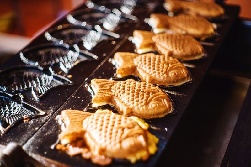 Close-up Of Fish Shaped Pastries