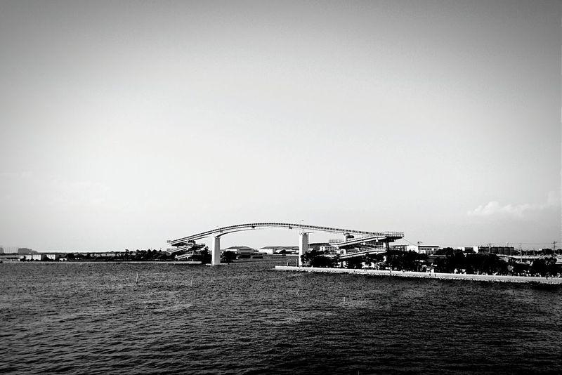 木更津 Sky Sea Sea And Sky Bridge お出掛け Enjoying Life Black And White