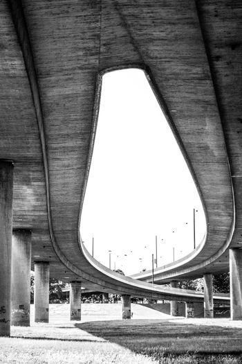 View Of Elevated Road Below Bridge