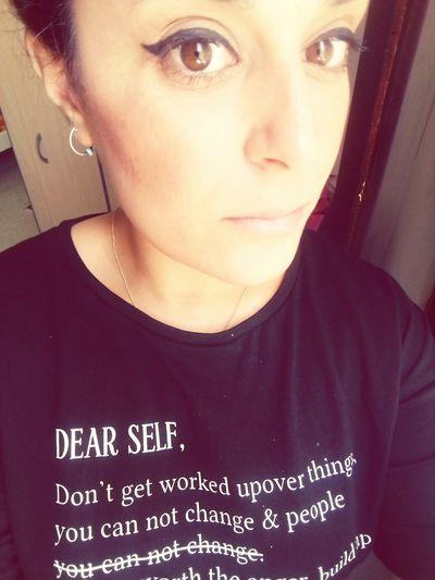 Portrait Young Women Beautiful Woman Studio Shot Headshot Text Close-up Casual Clothing