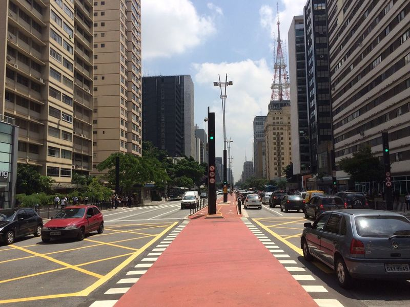 PAULISTA AVENUE SAO PAULO BRAZIL SUMMER MARCH 08 2016 Architecture Arquitecture Building Building Exterior Built Structure Car City City City Life City Street Cityscape Composition EyeEm Team Land Vehicle Leading Modern Office Building Outdoors Perspective Residential Structure Road Street The Way Forward Urban