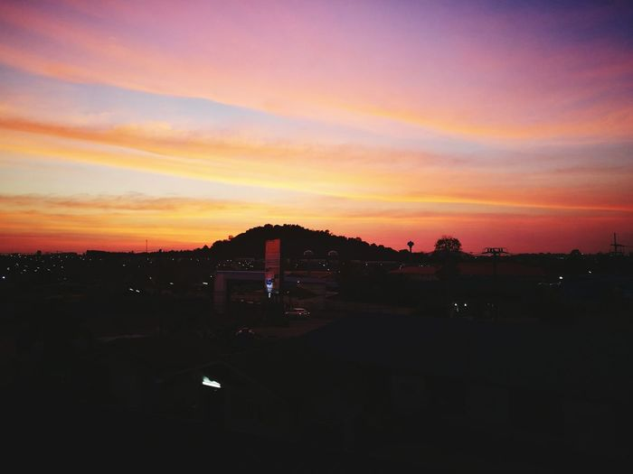 Sunset Social Issues Cloud - Sky City Sky Cityscape Dramatic Sky Urban Skyline Night Business Finance And Industry No People Outdoors Beauty In Nature Nature HuaweiP9