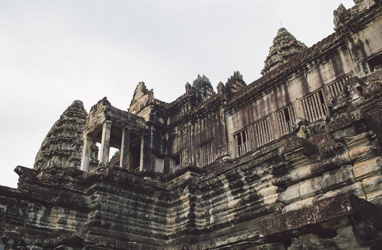 Siem Reap Cambodia Angkor Angkor Wat Angkor Wat, Cambodia Architecture Built Structure Building Exterior Sky Low Angle View Building History The Past Nature No People Old Day Clear Sky Travel Tourism Travel Destinations Outdoors Religion Belief Place Of Worship Ruined Archaeology