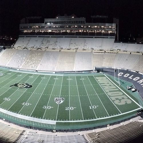 Brisk 36 degree early Morning pre Sunrise in Colorado Collegefootball
