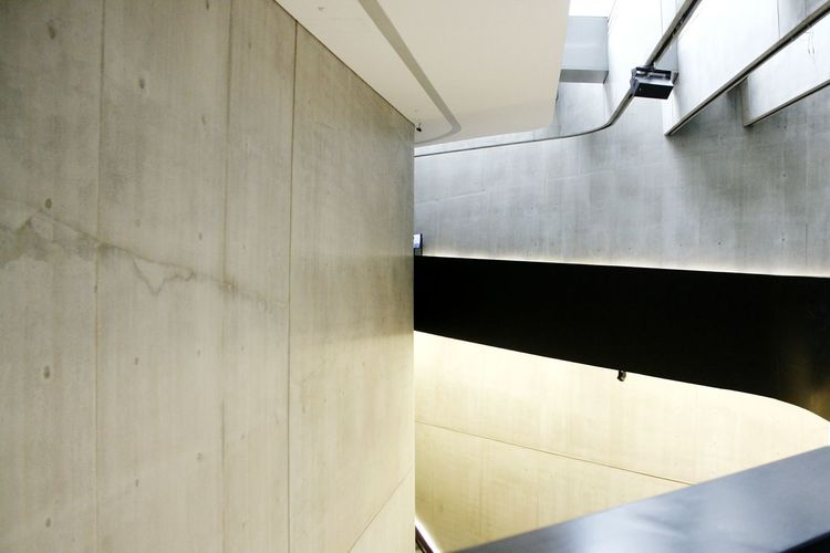 Indoors  Architecture Built Structure Modern No People Maxxi Museum MAXXI Roma MAXXI Art Rome MAXXI Museum Rome Italy Futuristic City Modern Curve Adult Black Color Bridge - Man Made Structure