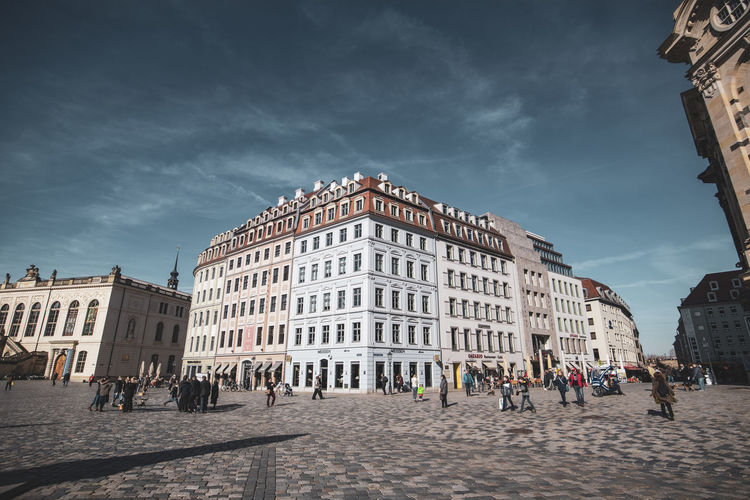 Dresden Building Exterior Architecture Built Structure City Sky Cloud - Sky Group Of People Building Nature Day Large Group Of People Real People Street Women Town Square Travel Destinations Incidental People Adult Crowd Outdoors Neumarkt Neumarkt Dresden