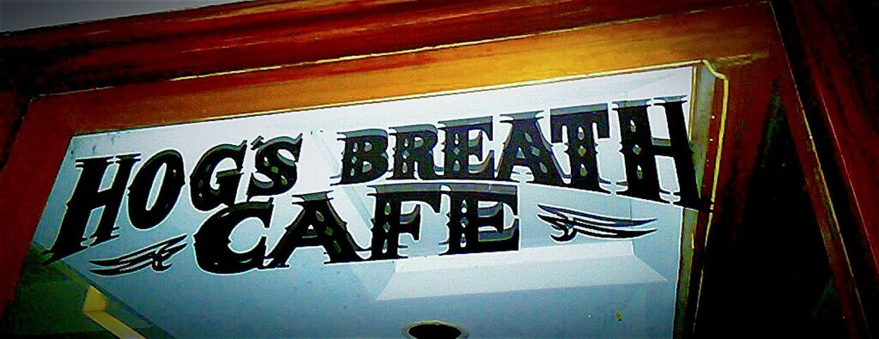 Signs Hog'spitality Sign Signporn Streetphoto_color Hogs Breath Cafe' Check This Out Hogsbreathcafe Taking Photos Streetphotography