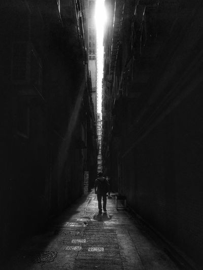 Adapted To The City Hong Kong Tim Wong IPhone Black And White Outdoors One Person Men Kwun Tong The City Light Long Goodbye