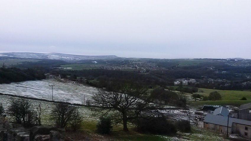 Snowy hills of Huddersfield. Beautiful Winter Snow Huddersfield