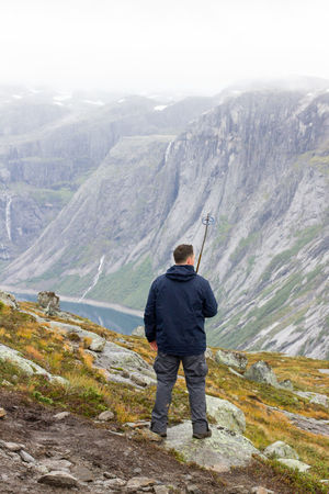 Active Lifestyle  Fjords Of Norway Mountains And Sky Lake High Angle View Man Fitnesslifestyle  Adventure Adventuretime Mountains Wild