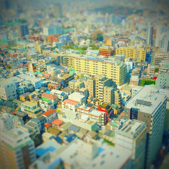 No People City House Multi Colored Aerial View Cityscape Tilt-shift Architecture Outdoors Day
