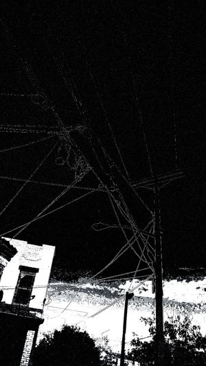 Tricky Edit urban arachnoid Above Ground Wires Lookingup Full Frame Abstractification Pattern, Texture, Shape And Form Lines