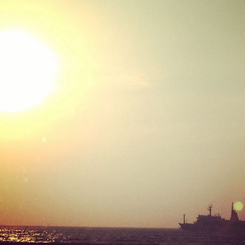 evening sun from Tomiura Chiba.